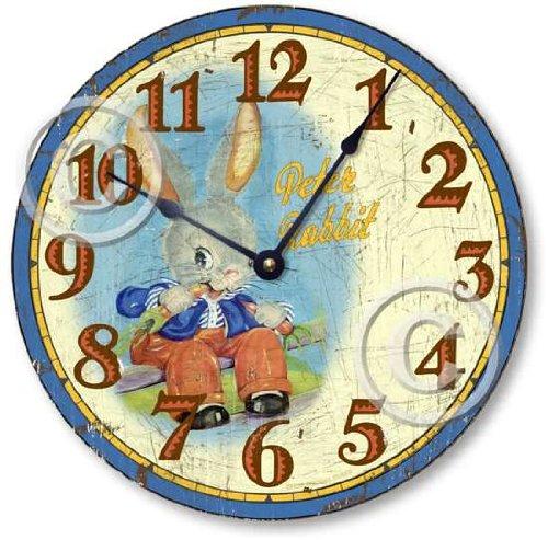 Item C5022 Vintage Style 10.5 Inch Peter Rabbit Children'S Clock