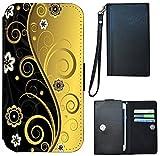 Schutz Hülle Flip Cover Universal M Handy Tasche Etui Case