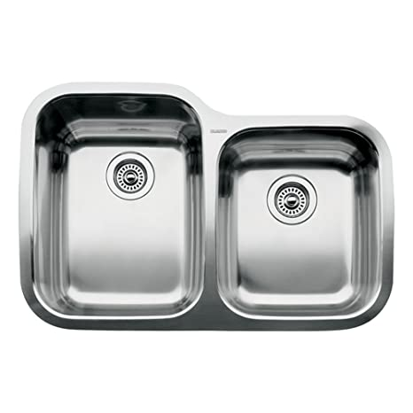 Blanco 510-888 Supreme 1 3/4 Double Bowl Undermount Kitchen Sink, Satin Polished Finish