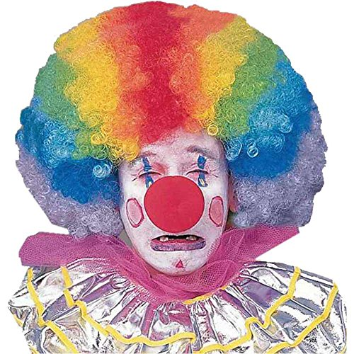 Extra Large Rainbow Afro Clown Wig - One Size