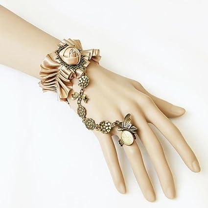 Vintage-Lace-Rose-Bracelet-with-Retro-Metal-Bow-Chain-Diamond-Gem-Butterfly-Bracelet-Girls-Favorite-by-E-Beautiful