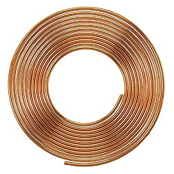 Copper Pancake Coil SCC1l4X1l4P1 Soft Copper Pipe, Outer Diameter - 1/4 inch (6.35millimeter) and Wall Thickness 24 swg, Pack of 1
