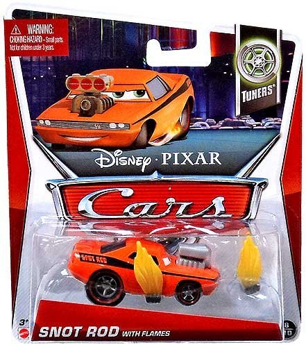 Disney/Pixar Cars 2013 Tuners Die-Cast Snot Rod with Flames #8/10 1:55 Scale - 1