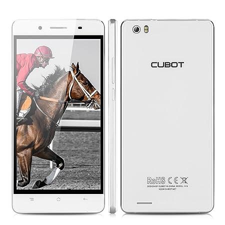 CUBOT X16 Smartphone débloqué 4G (Ecran: 5,0 pouces, FHD 1080P - 16 Go - Double SIM Nano et Micro - Android 5.1 Lollipop) Blanc