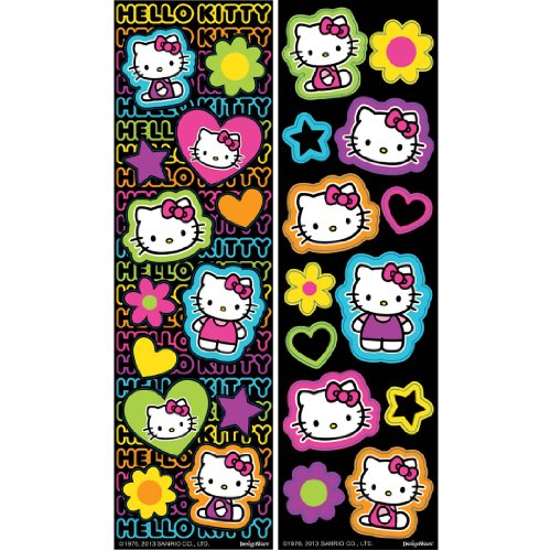 Hello Kitty Autocollants 8 Sticker Strips Sanrio 2013