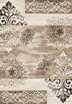 """Contemporary rug woven beige """"5 sizes..."""