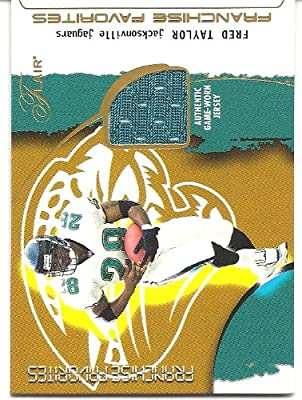 Fred Taylor 2002 Flair Franchise Favorites Jersey Card Jacksonville Jaguars