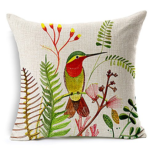 Hummingbird Hand Painted Pillow Cover<br>Pillow NOT Included