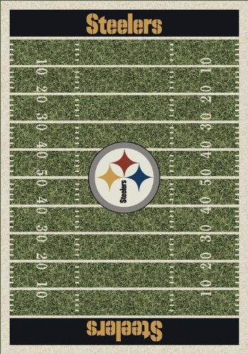 "Pittsburgh Steelers 533321-1075 5'4"" x 7'8"" NFL Home Field Football Rugs"