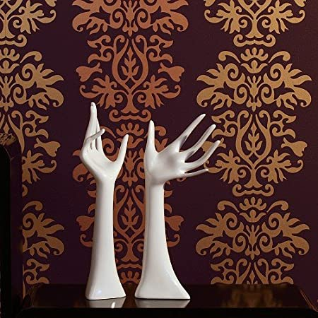 Set of Two White Jewellery Hands