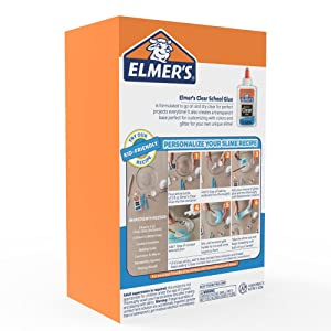 Elmer's Liquid School Glue, Clear, Washable, 5 Ounces, 3 Count - Great for Making Slime (Color: Clear, Tamaño: 5 Oz.)