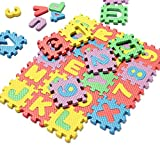 Thinkmax  36Pcs Alphabet Number EVA Puzzle Foam Mats Baby Child Kids Teaching Tools Toy Gift
