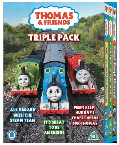 Thomas & Friends - All Aboard With The Steam Team/It's Great To Be An Engine/Peep! Peep! Hurray! [DVD]