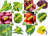 Only for Organic ! Kitchen Garden Kit ! 12 Seeds, 6 Fertilizers, 4x3x2 Seedling tray!