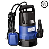 Yescom 1/2 HP 2112GPH 400W Submersible Dirty Clean Water Pump Swimming Pool Pond Heavy Duty Water Transfer (Tamaño: 400W)