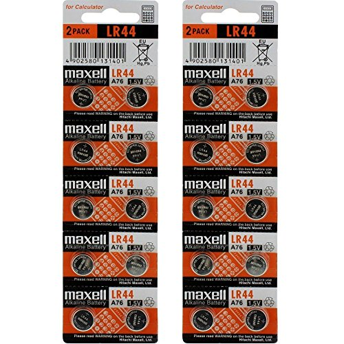 2 X 10 pack MAXELL AG13 LR44 357 button cell battery (20 Batteries Total)