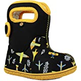 Bogs Baby Snow Boot, Planes Black/Multi, 6 Medium US Toddler