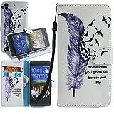 HTC Desire 630 Case, HTC Desire 530 Case, Harryshell(TM) Feather Wallet Folio Leather Flip Case Cover with Card Holder for HTC Desire 630/ HTC Desire 530