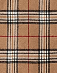 VB Scarf, classic - checked - fringed, cashmere like