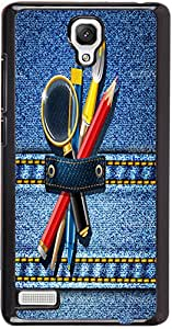 PrintVisa Abstract Jeans Kit Case Cover for Xiaomi Redmi Note / Note 4G