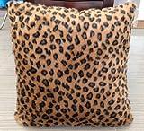 Dainty Home Animal Print Safari Decorative Throw Toss Pillow, Leopard