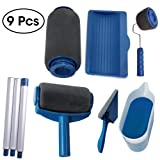 9PCS/Set Paint Runner Pro Roller Brush Handle Tool Flocked Edger Room Wall Painting Home Office Room Multifunction Roller Paint Brush Set by QUIENKITCH