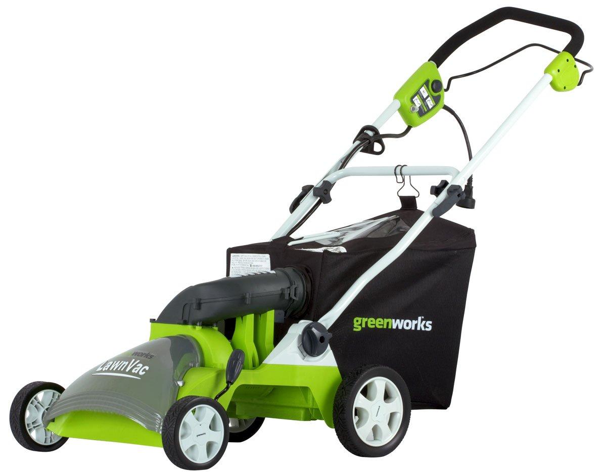 Elle542 Greenworks 26262 16 Inch 14 Amp Electric Lawn Vacuum