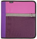 Mead Zipper Binder and Interior Expanding File, 1.5-Inch, Pink (72169)