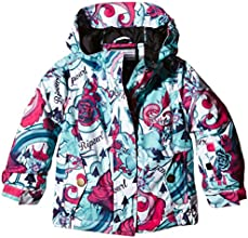 Rip Curl Betty Printed Veste de ski Fille Rouge FR : 8 ans (Taille Fabricant : 8)