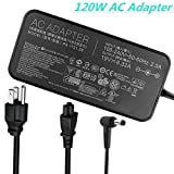 120w 19V 6.32A Laptop Charger Compatible ASUS ROG GL502VT GL502V GL502 GL502VT-DS71 Gaming Laptop ADP-120ZB BB, ADP-120RH B, PA-1121-28, A15-120P1A, N120W-02 Series Laptops