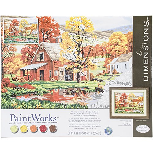 Dimensions Crafts 73-91475 Friends of Autumn Paint (Farm Paint By Number compare prices)
