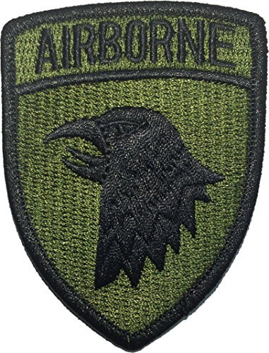 101st AIRBORNE Divisions Screaming Eagle US Army Military Uniform Sew Iron on Embroidered Applique Badge Sign Costume Paratrooper Shoulder Patch - Olive Drab/Green By Ranger Return (Military Ranger Patch compare prices)