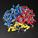 Lucksender 100PCS Piggyback Spade Crimp Terminal Connector 0.5-6.0mm? 10-22AWG