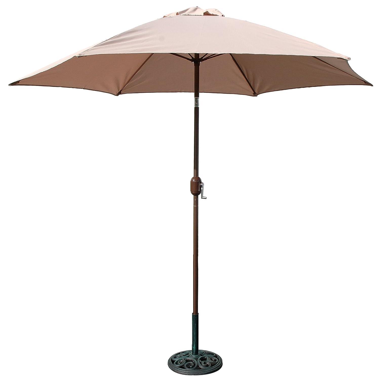 Patio market outdoor pool yard beach shade umbrella canopy for Canopy umbrella