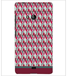 PrintDhaba Pattern D-1718 Back Case Cover for MICROSOFT LUMIA 540 (Multi-Coloured)