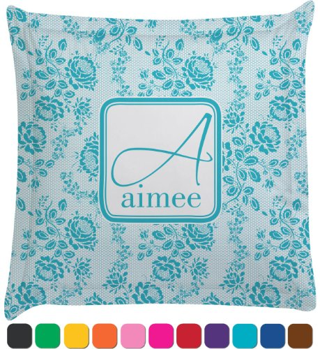 Lace Personalized Euro Sham Pillow Case front-989173