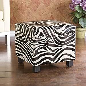 Amazon.com - Hayven Faux Leather Storage Ottoman - Zebra -