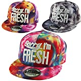 SORRY I'M FRESH Abstract Space Watercolour Snapback Cap Hat by City Gang Multicoloured