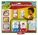 Crayola My First Crayola Washable Bath Crayons & Canvas Set-