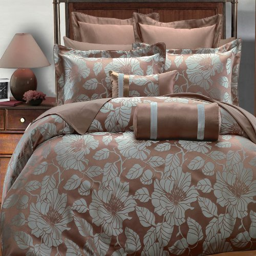 Egyptian Bedding Amanda 7PC California King Size Duvet Covers Set