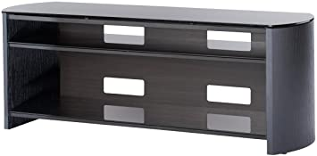 Black Real Wood Veneer TV Stand for screens up to 60 inch