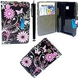 LG OPTIMUS L3 E400 NEW BUTTERFLY BOOK CASE COVER TASCHE MIT CREDIT CARD STECKPLATZ
