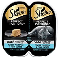 Sheba Wet Food Sheba Perfect Portions Pate Entree Wet Cat Food Trays (Flavor: Whitefish & Tuna)