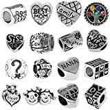 Timeline Trinketts Antique Silver Starter Charm Bracelet Spacer Beads Fits Pandora Jewelry European Style FREE Bead - Family