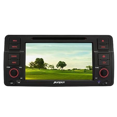 Pumpkin 7 Pouces Autoradio Bluetooth Ecran Tactile Numérique GPS 2 DIN Android 5.1 Wifi Lecteur DVD de Voiture pour BMW E46 soutient Caméra de Recul Contrôle Volant DAB