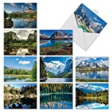 M1728BNsl Reflections: 10 Assorted Blank All-Occasion Note Cards Feature Beautiful Landscapes, w/White Envelopes.
