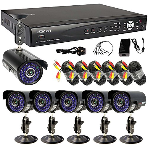 Home Security Video Monitoring System 8 Channel Hdmi H.264 Network Surveillance Dvr + 6 X 700Tvl Day Night Waterproof Cameras 60Ft Siamese Cables Package (No Hdd Included)