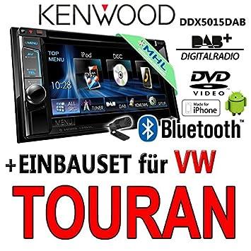 Kenwood pour vW touran dDX5015DAB 2-dIN multimédia uSB mHL kit de montage d'autoradio dAB