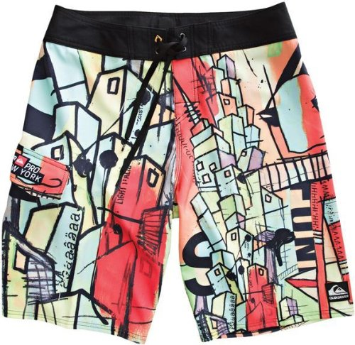 Quiksilver Men's Ny Pro Poster 4 Wy Stretch Board Shorts Swim Suit 101263-36