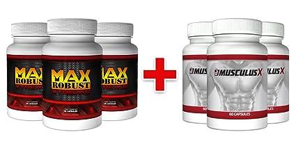 2+ 1 Maxrobust Xtreme & 2+1 Musculus X, Spezialpaket fur Muskelaufbau und Testosteronschub